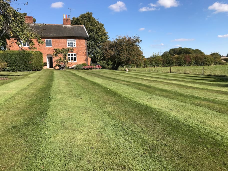Immaculately maintained garden