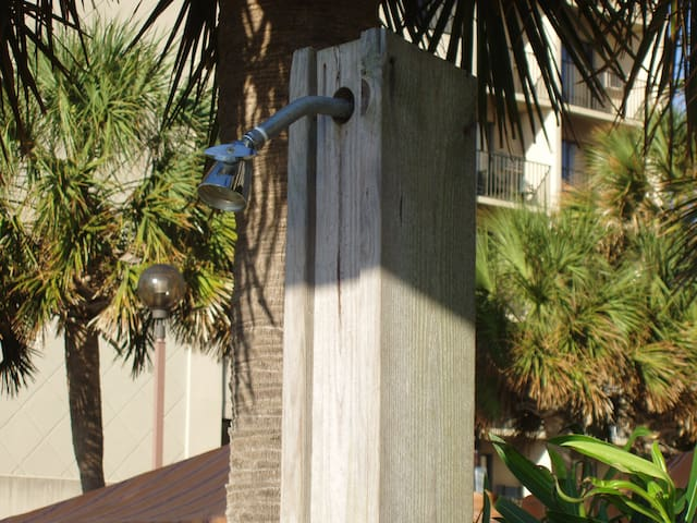 This shower is or your use as you leave the ocean...time to hit the pool or the hot tub!