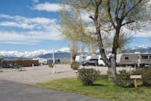 We are a small RV park and campground and you'll have access to the entire camp when staying in the Baja camper.