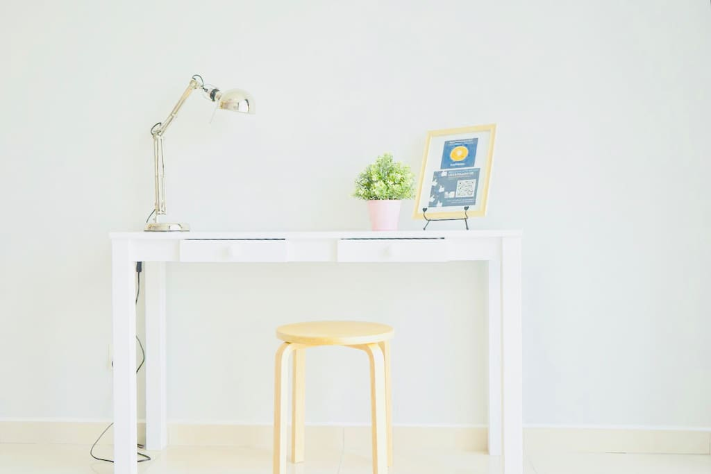 Workspace for working on your laptop