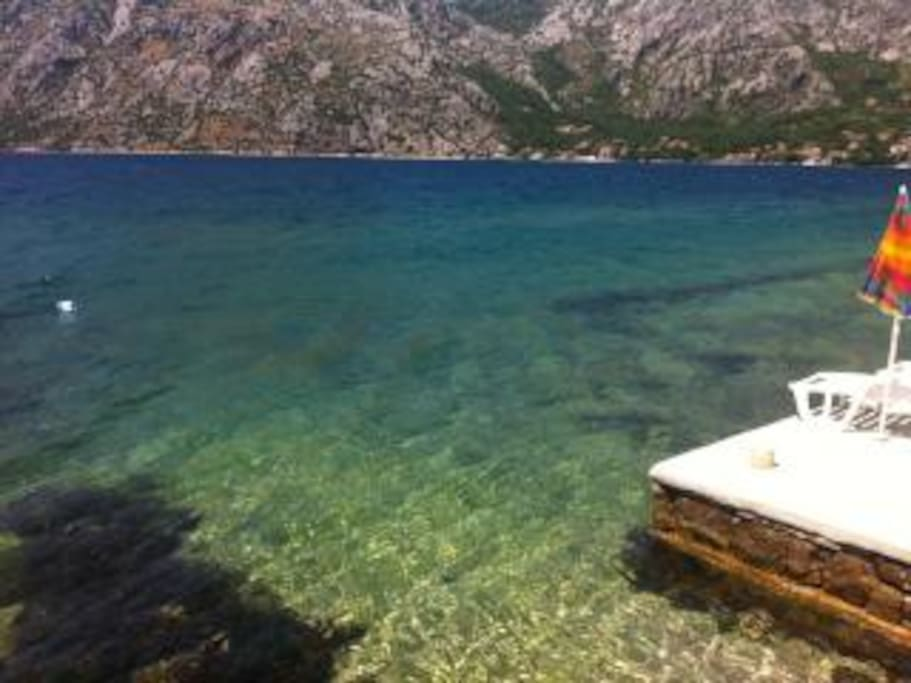 Crystal clear waters in Ljuta are the best in the Bay!