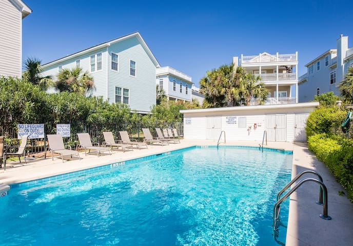 Private pool for the 5 homes in our community just steps from the house!