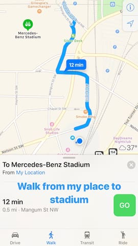 Save money! Walk to the Stadium and surrounding attractions