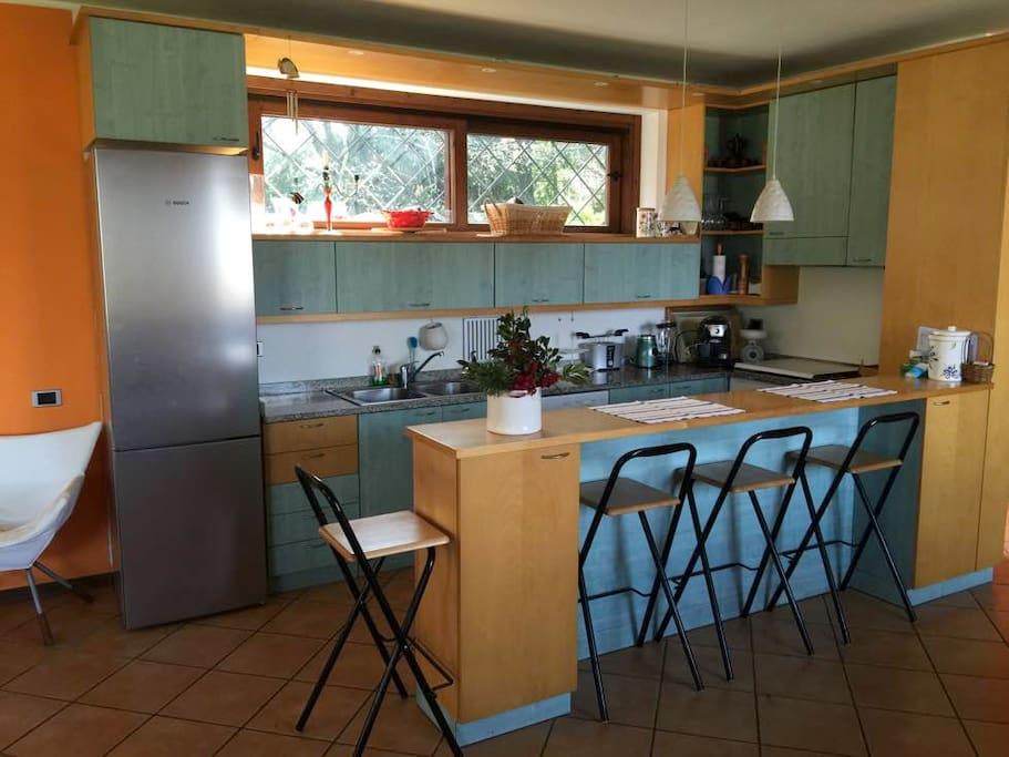 cucina a vista open space kitchen
