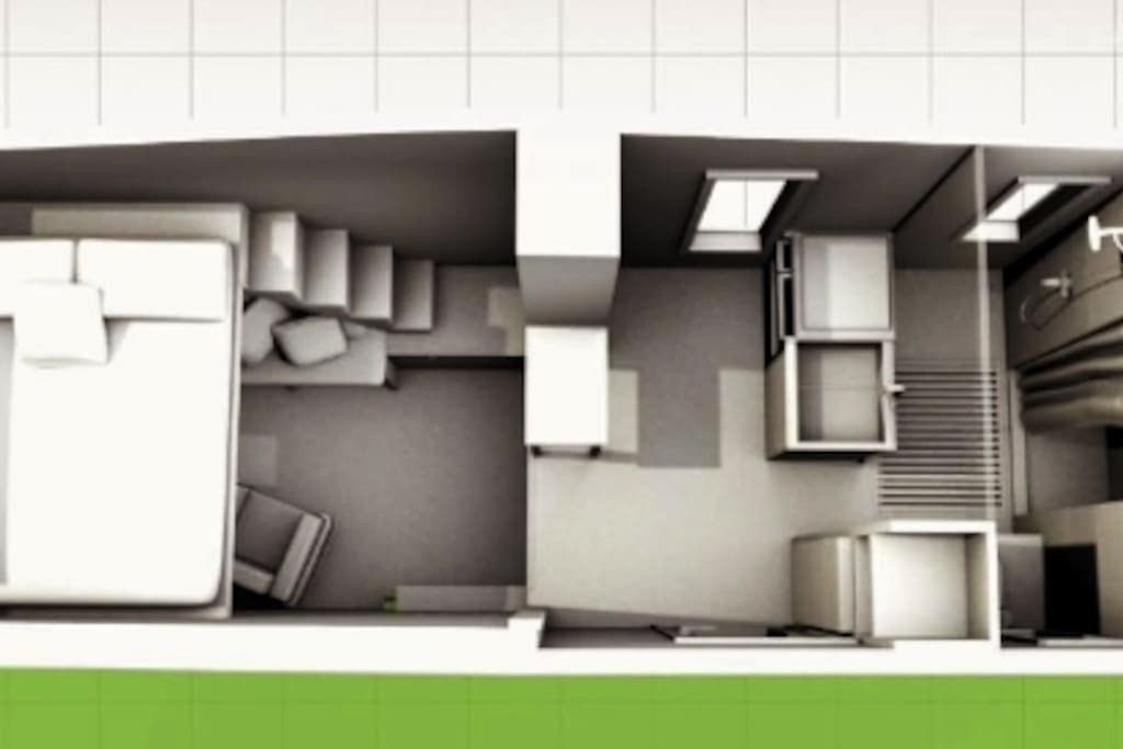 Computer model of the house created by HGTV for out episode on Tiny House Big Living