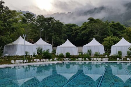 Benum Hill (Bed & Meals!) - Premium Poolside Tent - Raub - Namiot