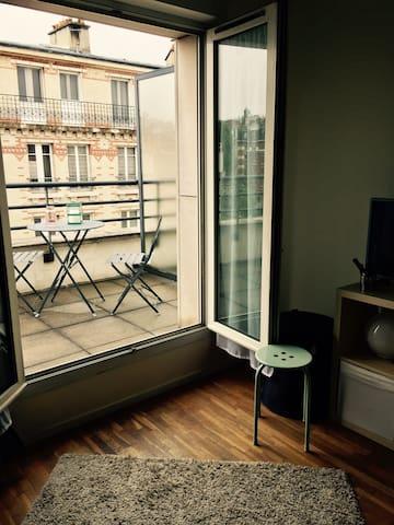 studio cosy paris 13 appartements en r sidence louer paris le de france france. Black Bedroom Furniture Sets. Home Design Ideas