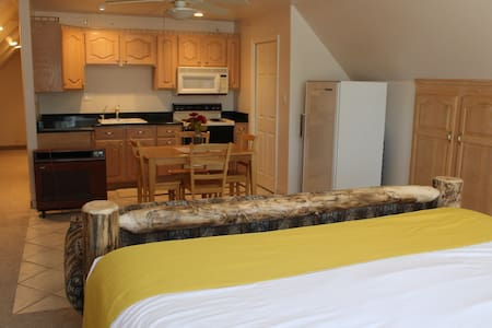 The Rancher's Retreat is a two room apartment.