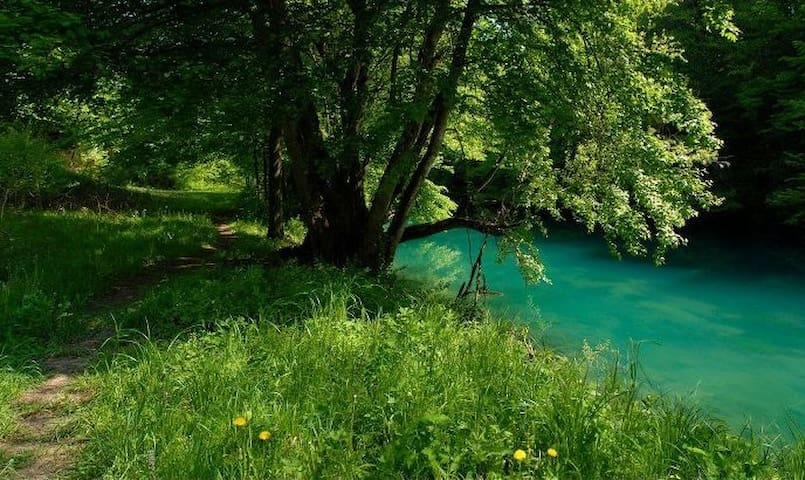Slunjcica River (7 minutes walk away). A 5km long walking trail along the River, all the way to the underground spring that creates the River