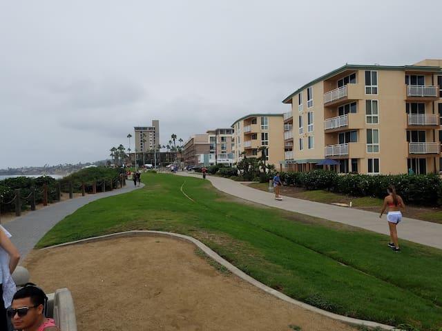 Ocean Front Pacific Beach Condo facing the city!