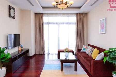 Pinky House-2Br Luxury Apt*HotTub at Royal city*
