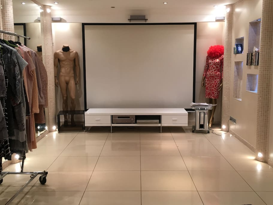 Cinema is equipped with high quality Dolby Surround audio system and heated floors