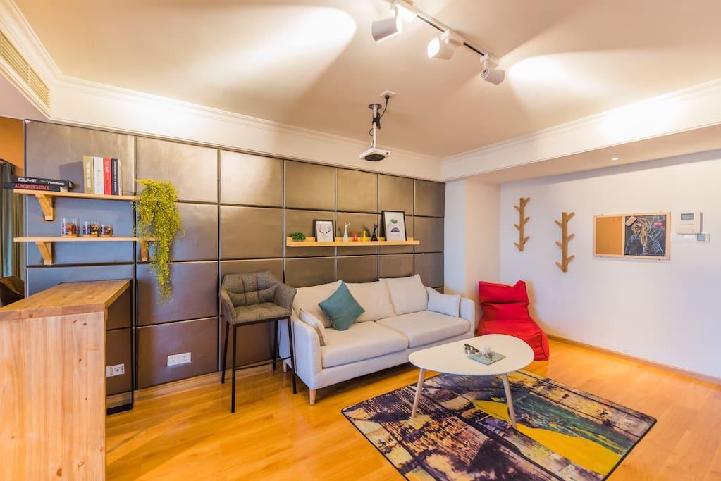 客厅舒适的沙发