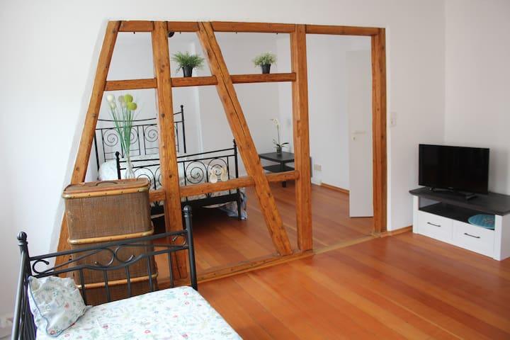 Fachwerkwohnung mit Charme und Dachterrasse +100qm