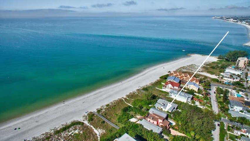 Direct beachfront private home with heated pool,  hot tub,  pets ok