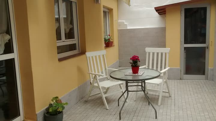 Casa- estudio con patio