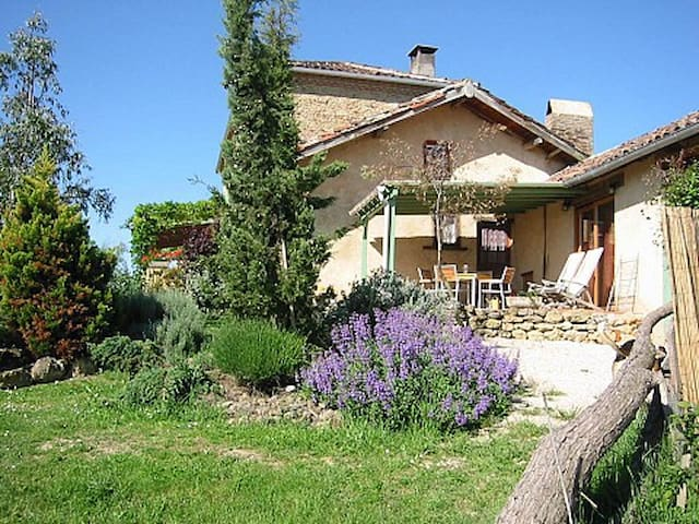 Luxury gite for 5 in lovely farmhouse, great pool - Labastide-Paumès - Apartamento