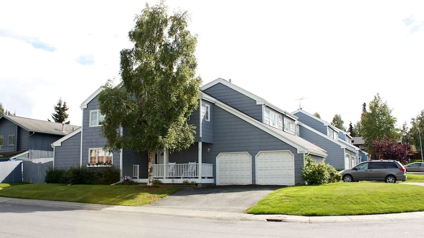 The house sits on a corner lot with easy access to bus routes, walking trails and playground nearby.