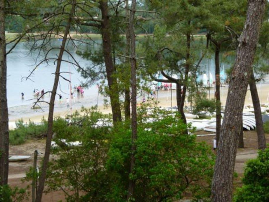 Ecole de voile  Vue sur le Lac d'Hossegor