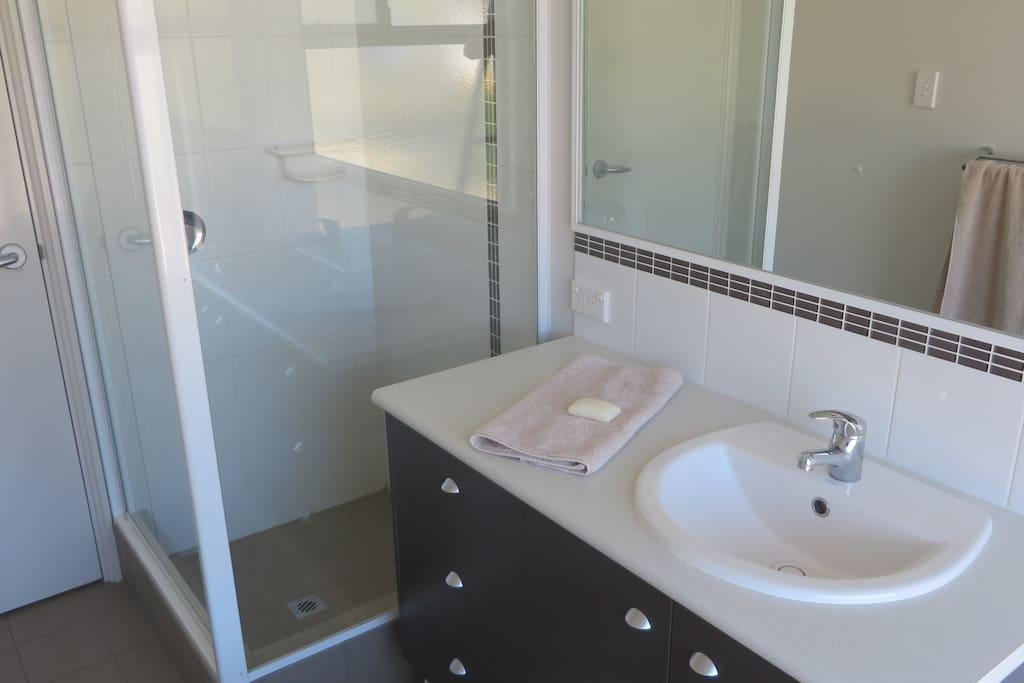 Fresh, bright and clean bathroom