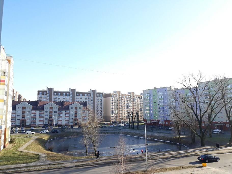 вид из окна спальни 1, балкона