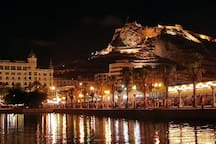 Alicante de noche  - Alicante at night