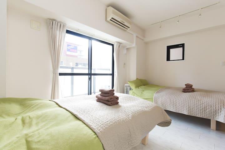1Bedroom Apt nrSTA 1min toNamba EasyAccess WiFi - Naniwa-ku, Ōsaka-shi - Apartment