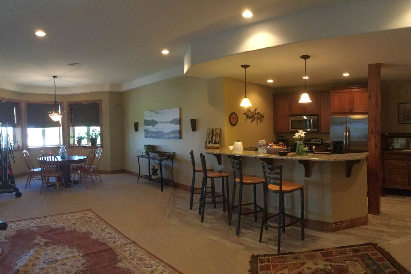 Living space + Full kitchen