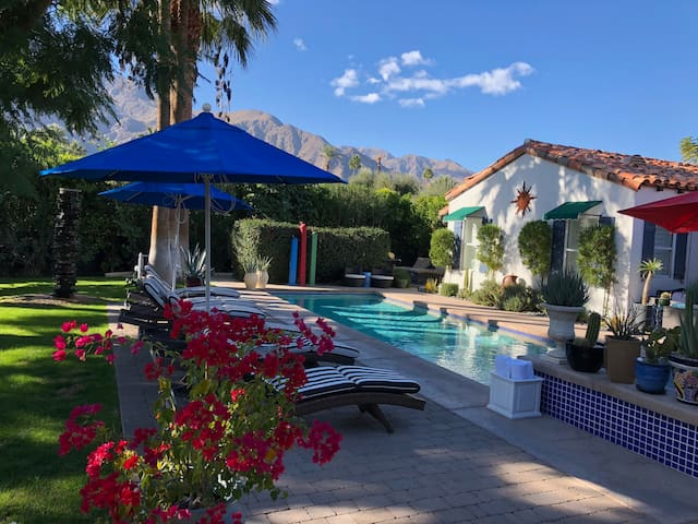 Steps away from the solar heated pool