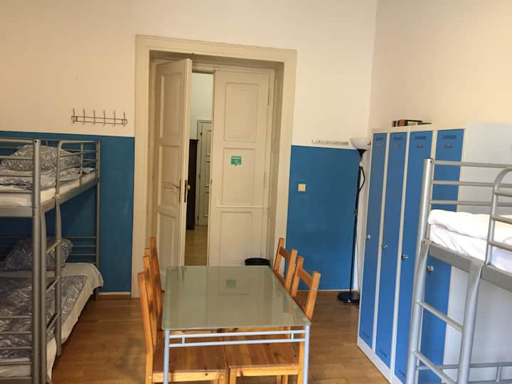 Dormitory 6 bedded mixed/shared bathroom