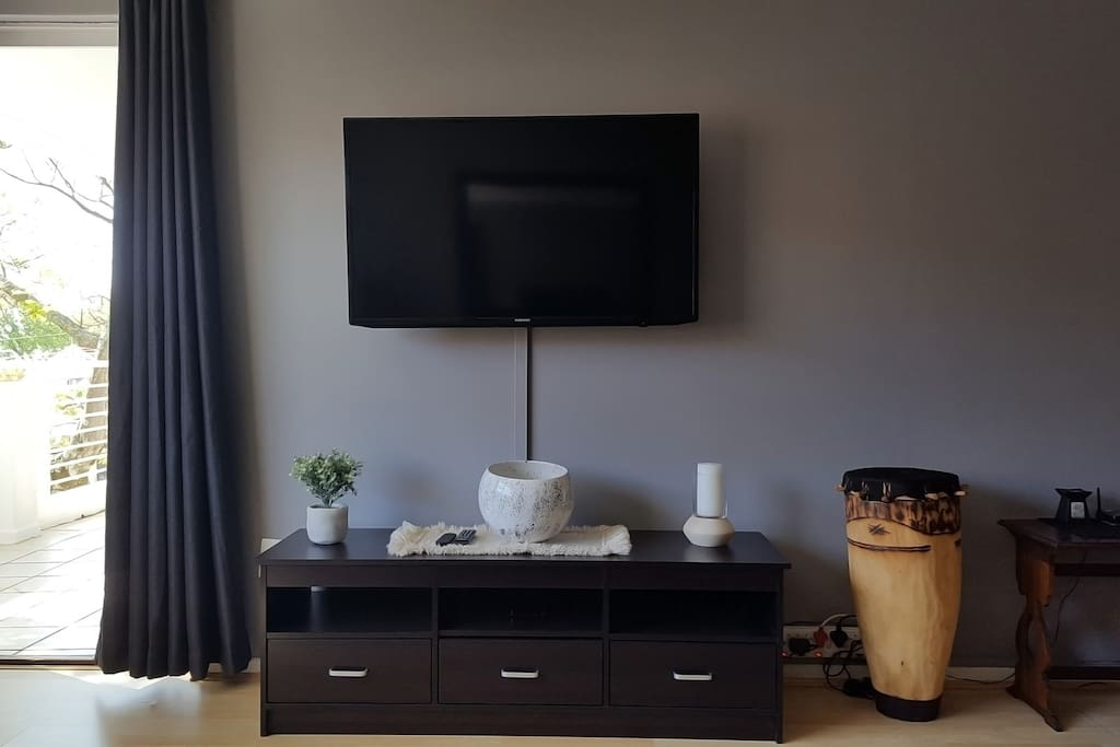 Tv is connect to a media box with Netflix, Dstv Now and ShowMax