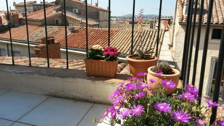 Studio cosy sur les toits de Montpellier