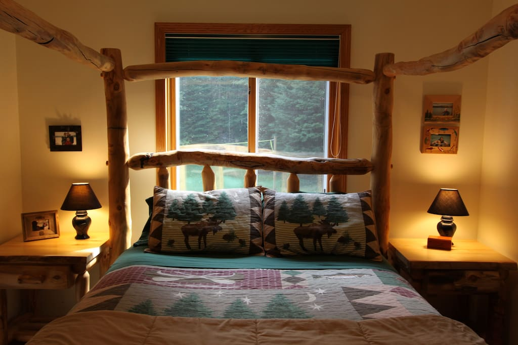Cozy Timber frame bed