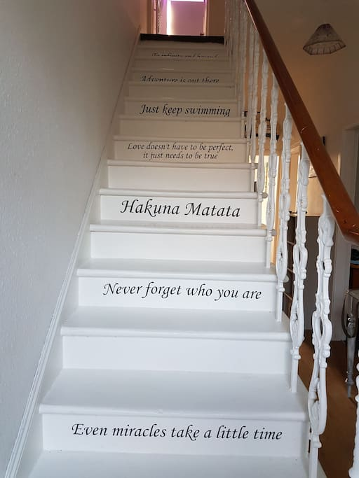 Disney inspired stairs.