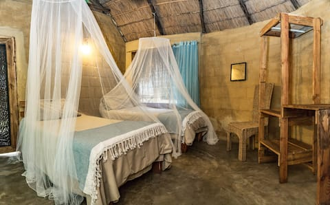 Manico Camp Twin Brick Cabin