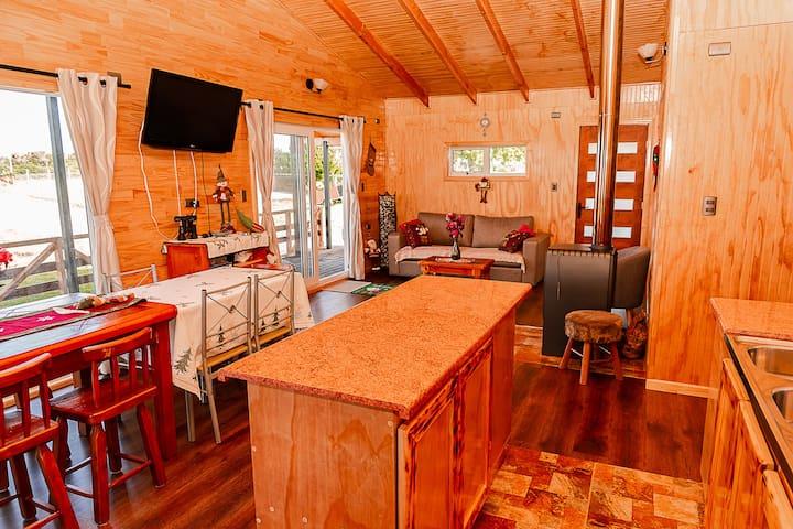 """Cabaña """"Altos de Ñida"""", Queilen, Chiloé"""