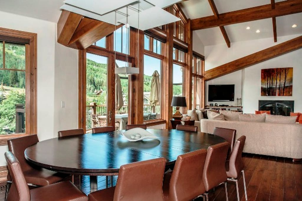 Beautiful Dining Room with Mountain Views