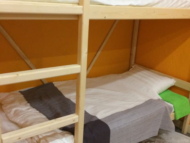 Single Bed in Female Dormitory Room. Bed  Breakfast Kamchatka Wild Tours
