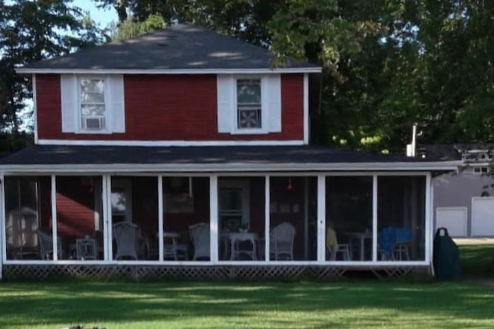 The Big Red Cottage on Paw Paw Lake