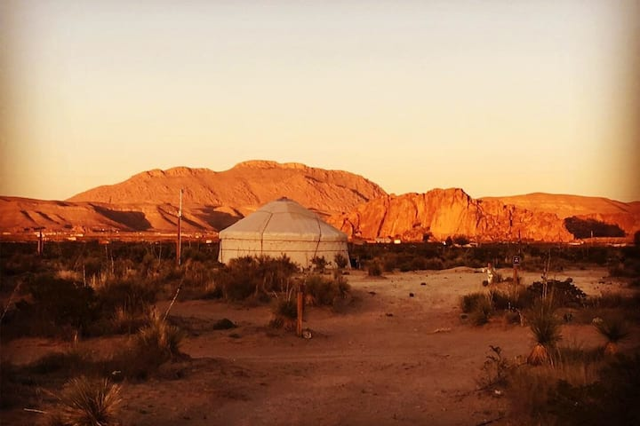 Yurt2/Desert Retreat@Hueco/Stargaze/Mtn view/Clean