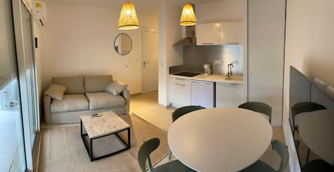 Bravone : Appartement 1 chambre en bord de plage