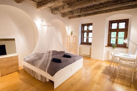 ⍟ Room in Baroque building at the Charles Bridge - Praha