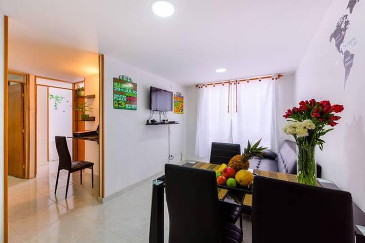 Apartamento Cerca al Aeropuerto, con PickUp y Wifi - Богота - Кондоминиум