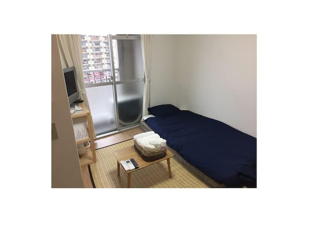 Osaka Cozy clean room A.namba.umeda.tennouji - Осака - Квартира
