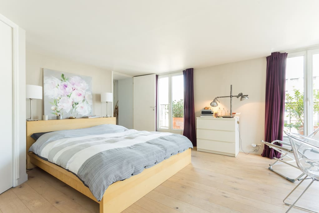Chambre spacieuse balcon arbore apartments for rent in for Chambre de bonne paris rent
