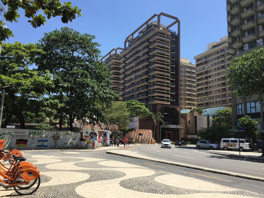 Apartment building next to Copacabana Fort