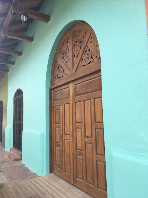 New paint and restored antique doors