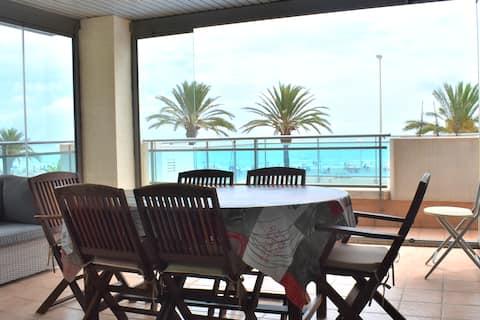 Apartamento 1.ª línea de playa (Puerto de Sagunto)