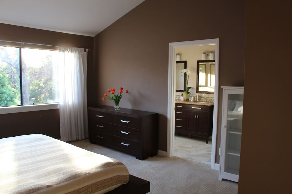 Huge master suite with new bathroom and kitchenette!