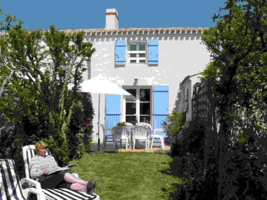 belle maison noirmoutrine plein sud h user zur miete in noirmoutier en l 39 le pays de la loire. Black Bedroom Furniture Sets. Home Design Ideas